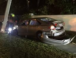 man hurt after car crashes into pole on 17th street all news