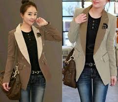 blazer wanita muslimah modern dominic korea wanita cantik gaul model terbaru murah
