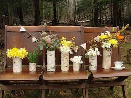 wedding centerpieces for a handcrafted wedding rustic wood vases