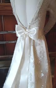 wedding dresses with sash ribbon large bow wedding dress sash in ivory big bow bridal gown