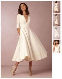 wedding reception dresses dress white dress white tea length dresses wedding reception