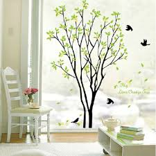 28 temporary wall stickers wall stickers decals home design temporary wall stickers green beautiful tree and bird room decor art decals vinyl
