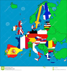 Eu Countries Map Map Of Eu Member Countries Stock Illustration Image Of Hungary