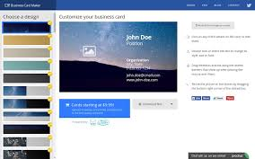 Online Business Card Maker Free Printable Business Card Maker Chrome Web Store