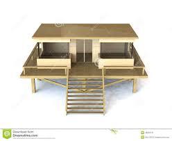 3d simple house model stock photo 49222131 megapixl