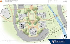 floor plan for shenandoah university announces plans for new village housing