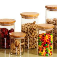 food canisters kitchen glass sealed storage jar with cork wide tea coffee nuts