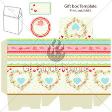 gift box template gl stock images