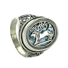 silver lion ring holder images Lion of judah quot roman glass ring sizes 10 12 only at holyland jpg