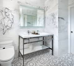 Modern Marble Bathroom Polished Chrome Washstand Contemporary Bathroom Toronto