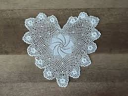 heart shaped doilies 8 inch heart shaped cotton crochet lace doily handmade white 12