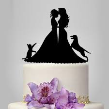 cake topper with dog wedding cake topper with cat cake topper with dog cake