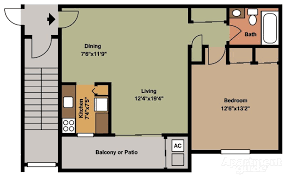 one bedroom floor plan floor plans pricing canal house apartments