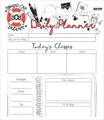 printable daily planner template 9 free word pdf documents