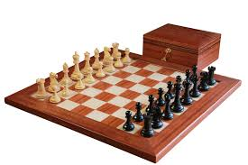 buy 1865 mahogany combination chess set at official staunton for