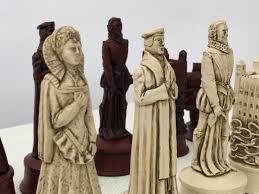 berkeley chess ltd elizabethan chess set ivory and red 0