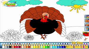 turkey coloring pages for kids turkey coloring pages hd youtube