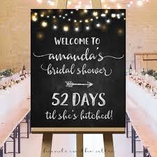 bridal shower signs welcome poster bridal shower large number of days til she s