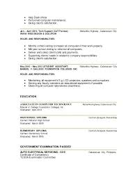 computer technician resume sample resume for computer technician
