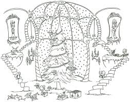 coloring pages christmas trees christmas lights decoration