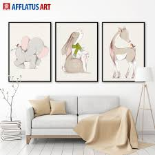 Rabbit Home Decor Elephants Painting Promotion Shop For Promotional Elephants