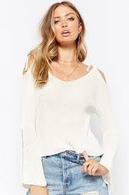 white sweater s sweaters cardigans oversized fitted ribbed forever21