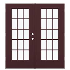 Outswing Patio Door by Shop Reliabilt 71 5 In 15 Lite Glass Currant Fiberglass French