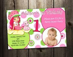 printable birthday invitations strawberry shortcake strawberry shortcake invitation birthday party photo invites