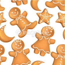 seamless pattern of christmas biscuits vector art thinkstock