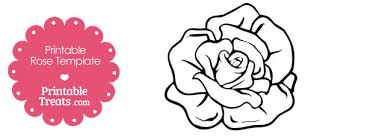 printable rose shape template u2014 printable treats com