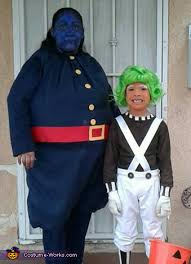 Violet Halloween Costume Willy Wonka Oompa Loompa Violet Blueberry Costume