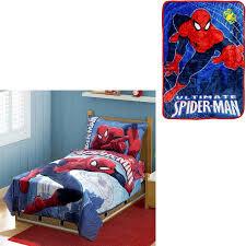 Spiderman Double Duvet Bonus Blanket With Marvel Spiderman 4pc Toddler Bedding Set