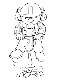 coloring page bob the builder coloring pages 0 throughout pop the