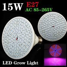 hydroponic led grow lights newest hydroponics lighting 85 265v 15w e27 red blue 126 leds