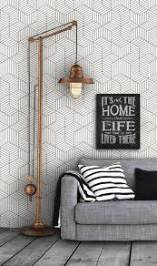 Wallpaper Interior Design Geometric Pattern Self Adhesive Vinyl Wallpaper D045 By Livettes