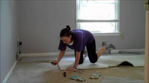 Laying Carpet On Laminate Flooring Single Ladies Diy Project Carpet Removal Youtube