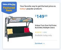 Walmart Value Of The Day Eclipse Twin Over Full Futon Bunk Bed - Twin over futon bunk bed with mattress