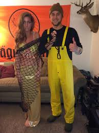 Cheech Chong Halloween Costumes Mermaid Fisherman Homemade Halloween Couples Costume Ntl