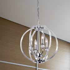 Orb Chandelier Griselda Contemporary Chrome Finish Orb Chandelier Free Shipping
