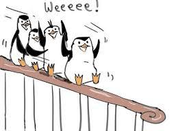 Sliding Down A Banister Penguins Of Madagascar Images Sliding Down The Banister Hd