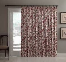 curtains for patio sliding doors insulated pinch pleated patio door single panel cornwall jacobean