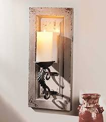 Rustic Candle Sconce Wall Candle Holder Shabby Chic Thesecretconsul Com