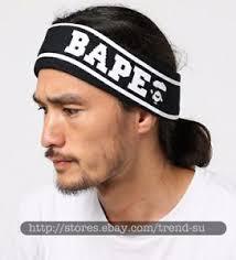 sport headband a bathing ape bape black sport headband hairband elastic free size