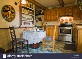 Wooden Antique Chairs Breakfast Table In Kitchen Inside Old Stock - Breakfast table in kitchen