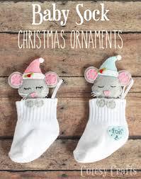 baby sock diy ornaments cutesy crafts