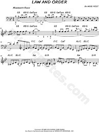 theme music rockford files law and order from law and order sheet music leadsheet in g