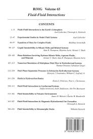 mineralogical society of america fluid fluid interactions