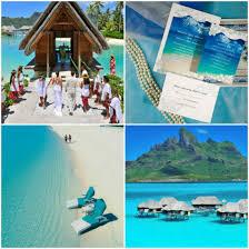 destination wedding ideas and wedding invitations bora bora