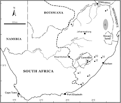 Map Of Southern Africa by Southernmost Africans Archaeology And The Environment During The