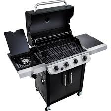 char broil 4 burner gas grill cart with side burners black all ebay
